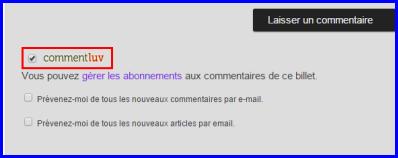 Pour chaque commentaire laissé, vous aurez un lien vers l'un de vos articles