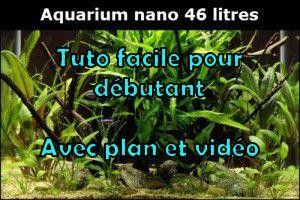 Comment réaliser un paysage aquascape avec un aquarium nano de 46 litres
